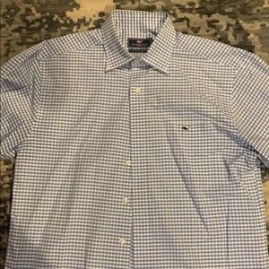 Blue and white vineyard vines button down